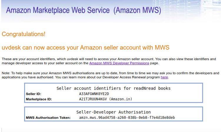 Amazon MWS Code