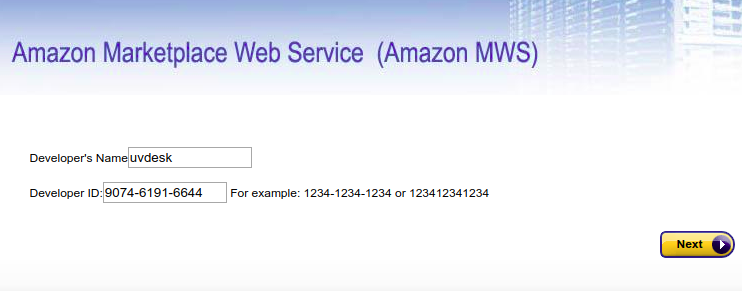 Amazon MWS Configuration