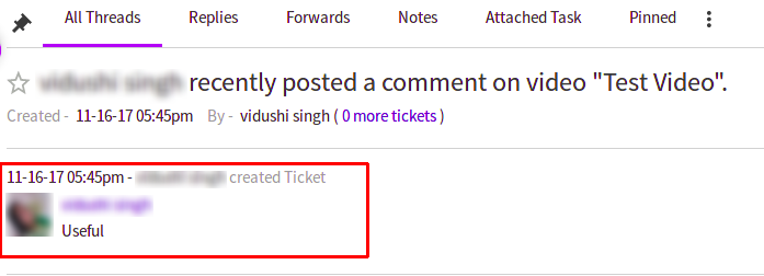 Comment on the ticket