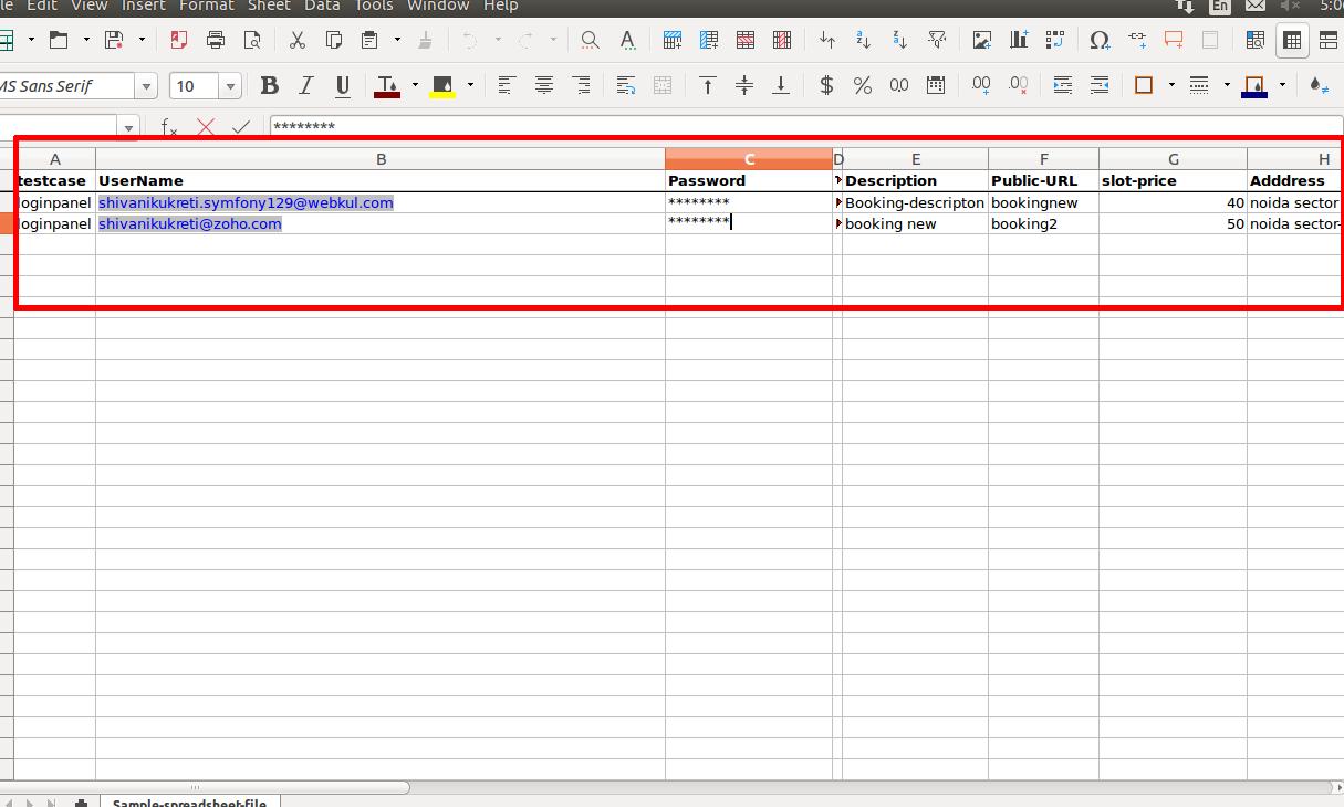 Data Driven Framework in Selenium WebDriver Using Apache POI