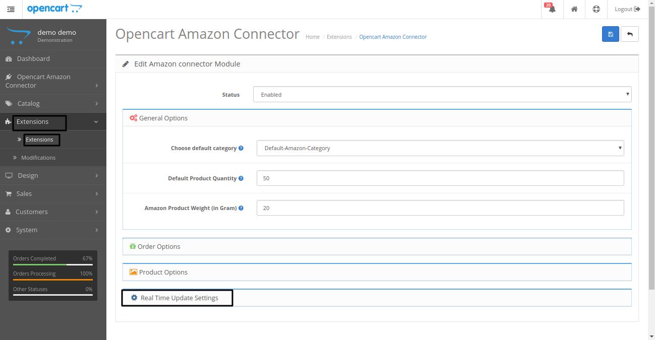 Opencart Amazon