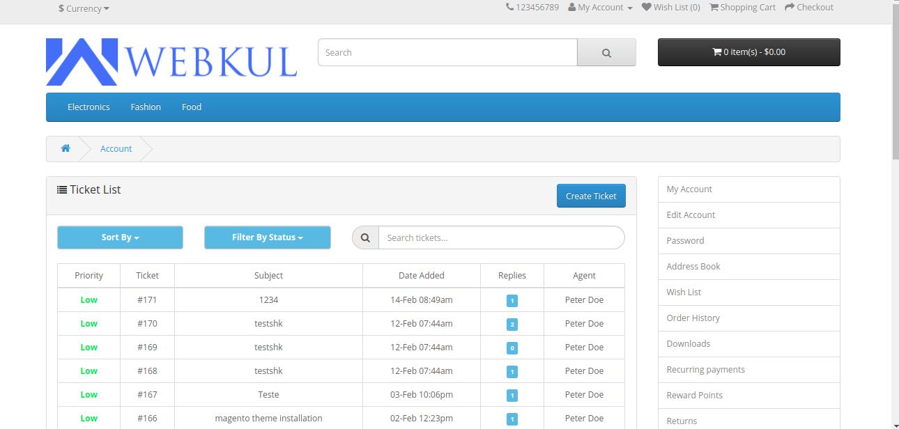 UVdesk - Opencart Free Helpdesk Ticket System