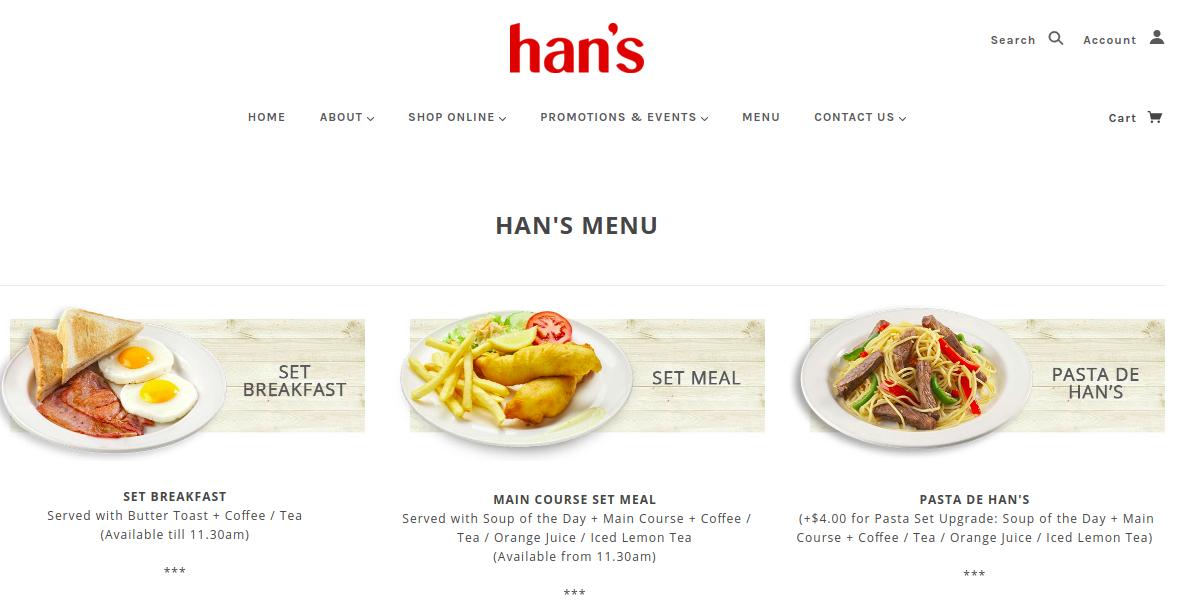 Hans Menu