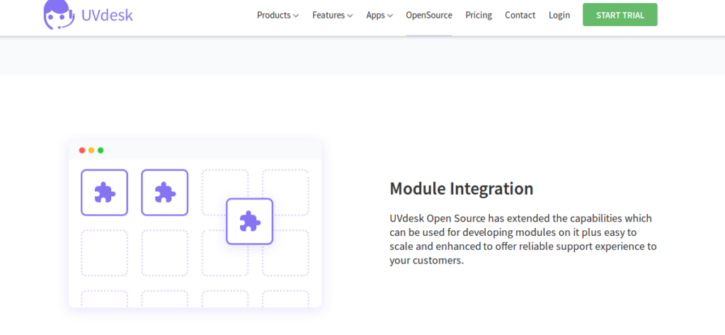 Open source Zendesk alternative - UVdesk module integration