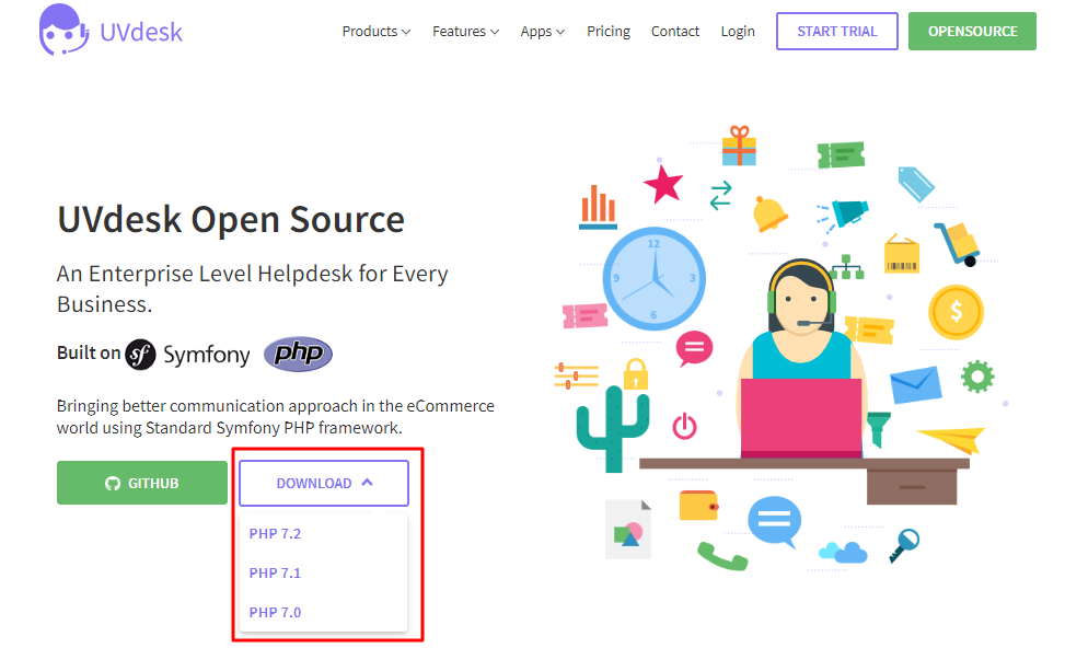 Download zip of Opensource helpdesk - UVdesk
