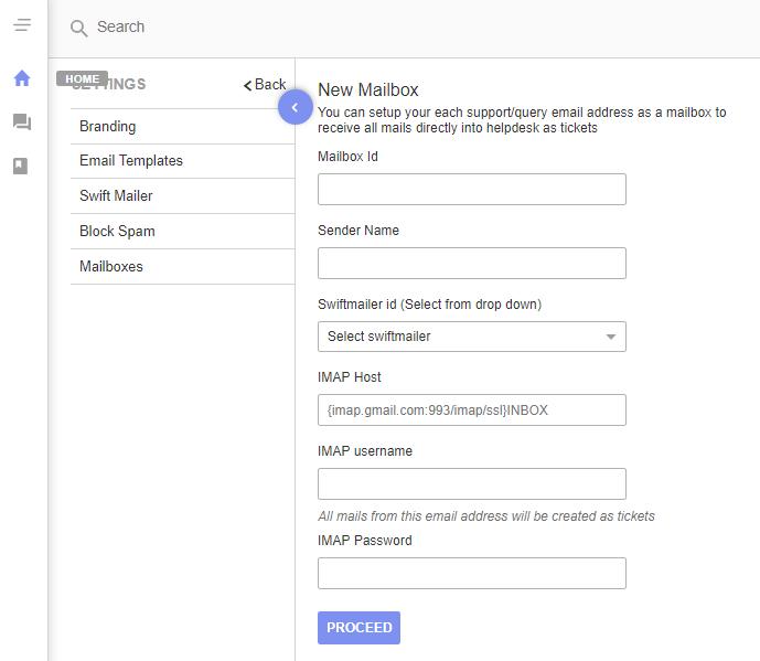 Insert mailbox entry - UVdesk