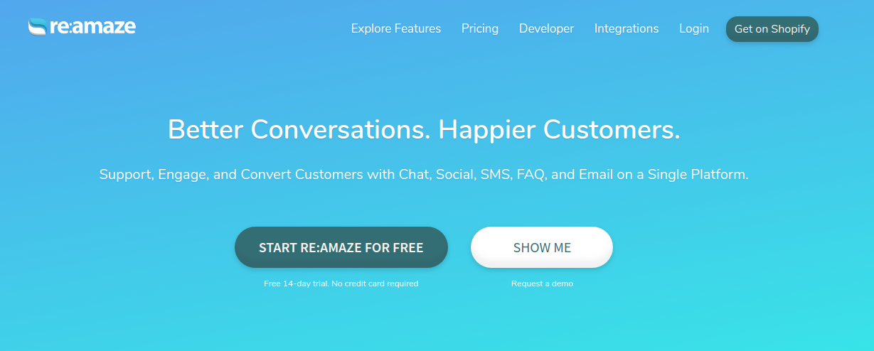 re:amaze shopify app