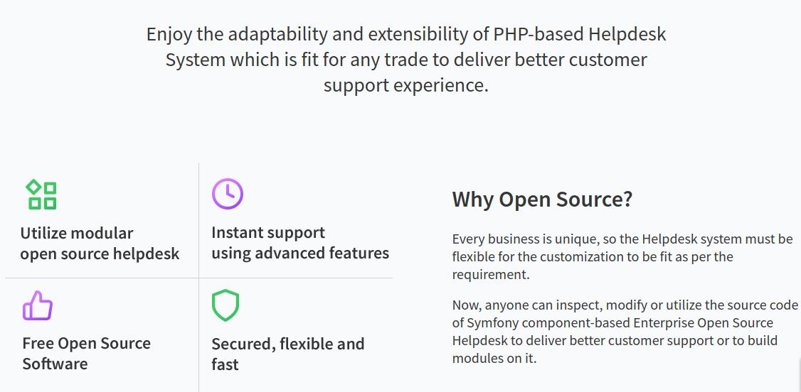 Secure Open source helpdesk