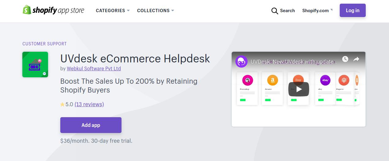UVdesk eCommerce Shopify Helpdesk