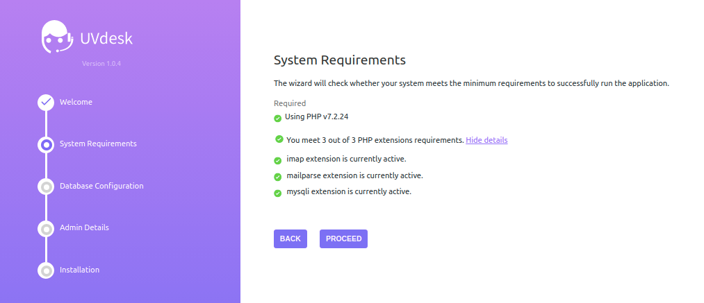 UVdesk Open Source Helpdesk System Requirement